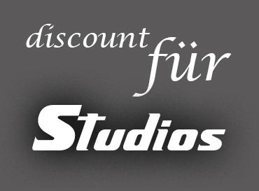 discount für Studios